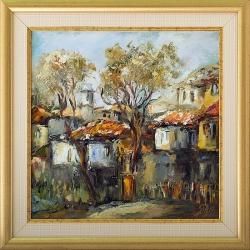 Селски пейзаж - картина от Даня КЕХАЙОВА