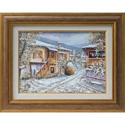 Зима в Боженци - картина от Вили ГЕОРГИЕВ