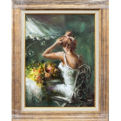 Нежност в бяло - картина от Лилия ПЕТКОВА