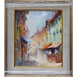 Разходка в Стария град II - картина от Димитър ПЕТКОВ