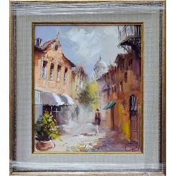 Разходка в Стария град- картина от Димитър ПЕТКОВ
