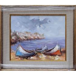 Лодки II - картина от Димитър ПЕТКОВ