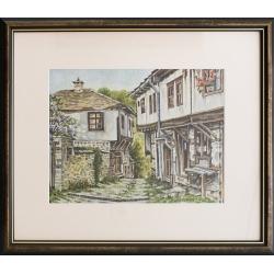 Къщи от село Долен - акварел от ГАЛИНА