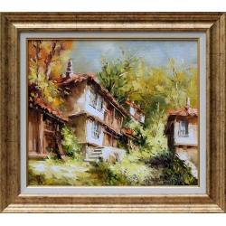 Стари къщи - картина от Лилия ПЕТКОВА