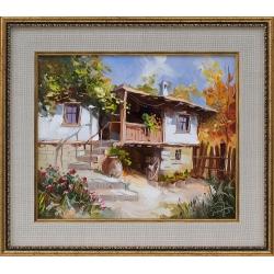Бялата къща - картина от Димитър ПЕТКОВ