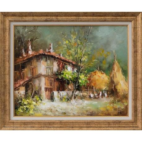 Селска идилия - картина от Лилия ПЕТКОВА