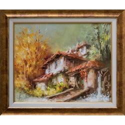 Край воденицата - картина от Лилия ПЕТКОВА