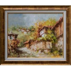 Стари къщи III - картина от Лилия ПЕТКОВА