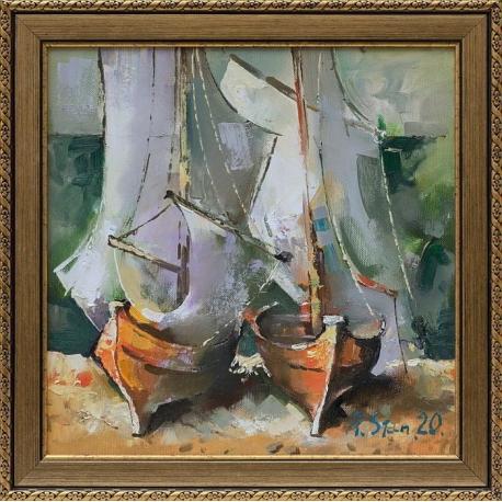 Две лодки- картина от Андрей СТАНИШЕВ