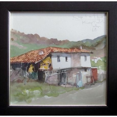Къща в Ефрем - акварел от КАРАТОНЕВ