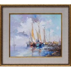 Лодки III - картина от Димитър ПЕТКОВ