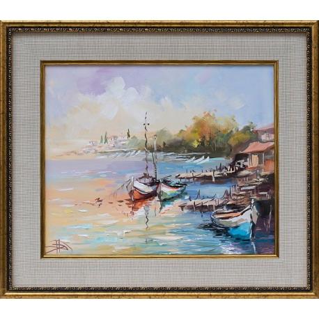 Лодки IV - картина от Димитър ПЕТКОВ