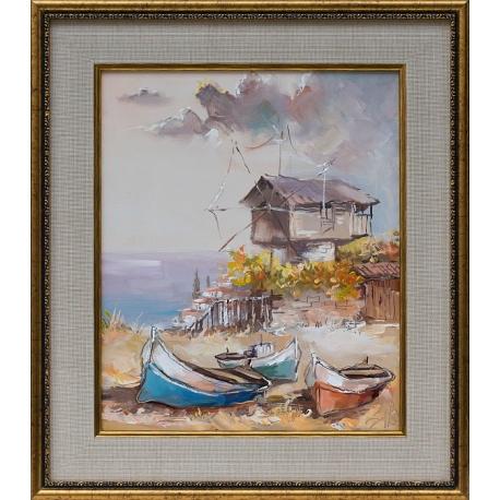Старата мелница- картина от Димитър ПЕТКОВ