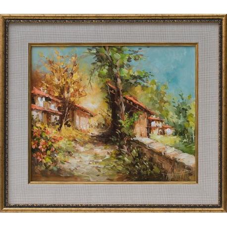 Планинско село - картина от Лилия ПЕТКОВА