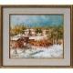 Зима на село - картина от Лилия ПЕТКОВА