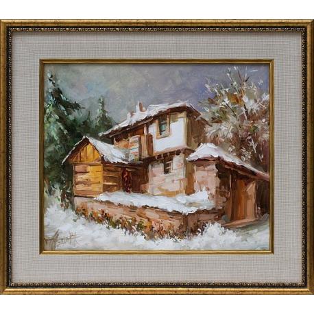 Зима в планината - картина от Лилия ПЕТКОВА
