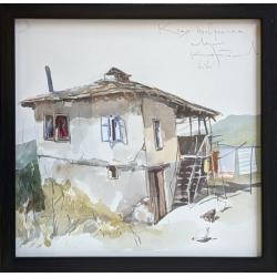 Къща от с. Орешака - акварел от КАРАТОНЕВ