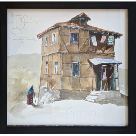 Къща в с. Черни Осъм - акварел от КАРАТОНЕВ