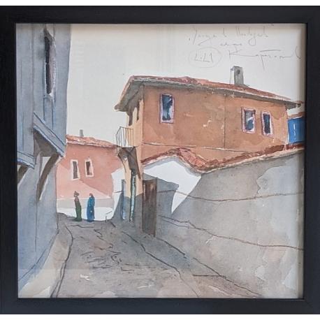 Улица в Пловдив - акварел от КАРАТОНЕВ