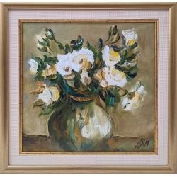 Бели рози - картина от Даня КЕХАЙОВА