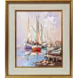 Цветни лодки II - картина от Димитър ПЕТКОВ
