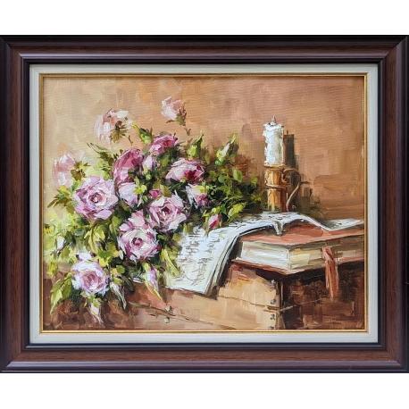Натюрморт с рози - картина от Лилия ПЕТКОВА
