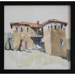 Къща в Долно Луково - акварел от КАРАТОНЕВ
