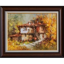 Есен на село I - картина от Лилия ПЕТКОВА