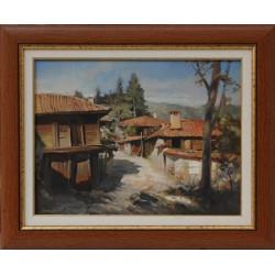 Пейзаж от Копривщица- картина от Марков