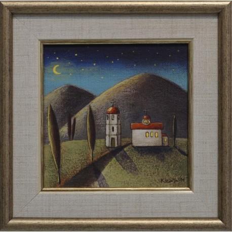 Нощна църква- картина от КОСТА