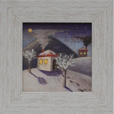 Зимна нощ- картина от КОСТА