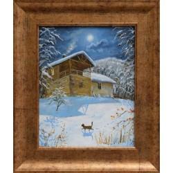 Зимно пълнолуние- картина от КРЪСТЕВ