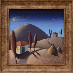 Нощ над селото - картина от КОСТА