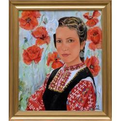 Момиче с народна носия- картина от СИМОНА
