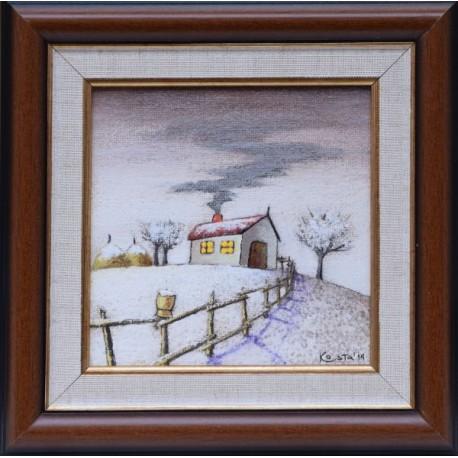 Зимна приказка- картина от КОСТА