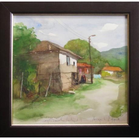 Улица в село Ефрем- акварел от КАРАТОНЕВ