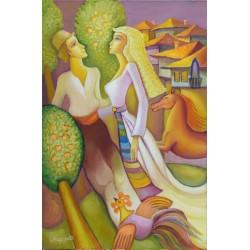 Влюбени - картина от МЕРАЗЧИЕВ
