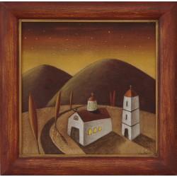 Вечерен храм- картина от Коста