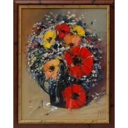 Натюрморт с цветя- картина от Дойчев