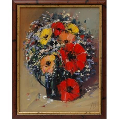 Натюрморт с цветя- картина от Л.Дойчев