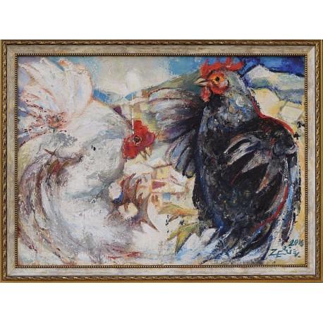 Двубой - картина от Благовест ЗЕРЛИЕВ