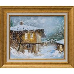 Зимна вечер - картина от Юлиан КРЪСТЕВ