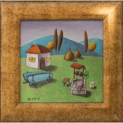 Идилия в синьо - картина от КОСТА