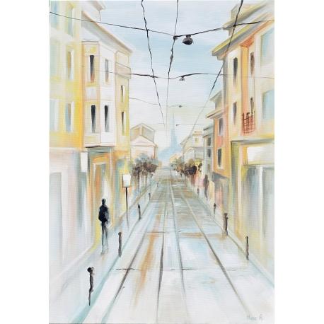 """Улица """"Граф Игнатиев"""" - картина от Никола ЙОНКОВ"""