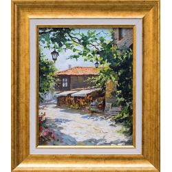 Из Стария Несебър - картина от Юлиан КРЪСТЕВ