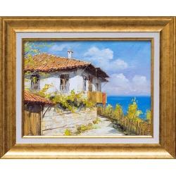Крайбрежна къща - картина от Юлиан КРЪСТЕВ
