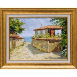 Несебърско лято - картина от Юлиан КРЪСТЕВ
