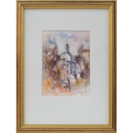 Есенна импресия - акварел от РУСЛАН