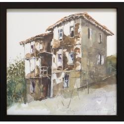 Къща от Долно Луково - акварел от КАРАТОНЕВ