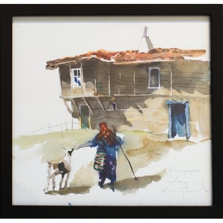 Козарка - акварел от КАРАТОНЕВ